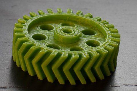 پرینت سه بعدی چرخ دنده