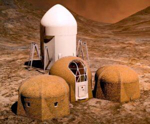 ساخت خانه در مریخ با پرینتر سه بعدی
