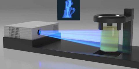 ساخت سریع اشیا با پرینتر سه بعدی پروژکتوری