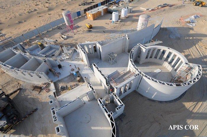 ساخت بزرگ ترین بنای ساختمانی با پرینتر سه بعدی در دبی