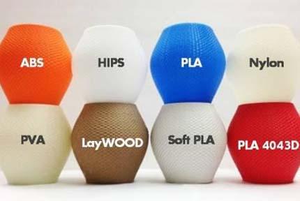 انواع مواد اولیه پرینتر سه بعدی