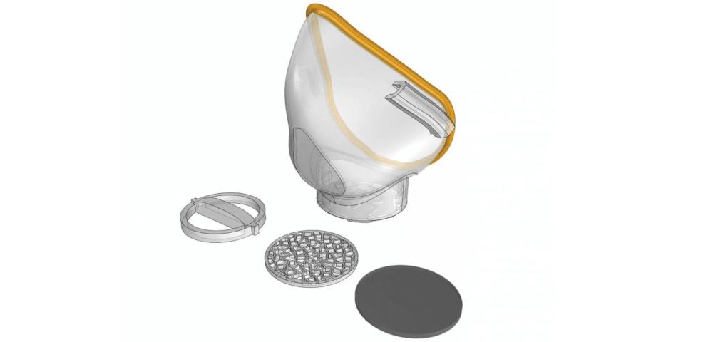 دانلود مدل سه بعدی ماسک N95